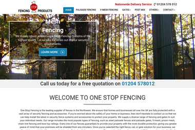 One Stop Fencing Products Ltd - Gates, fencing Bolton