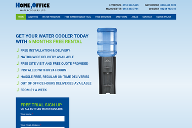 Home 2 Office Water Coolers - Water dispensers suppliers Liverpool